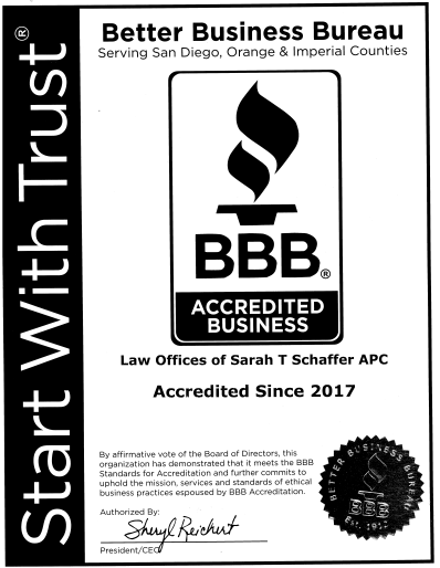 The Law Office of Sarah T. Schaffer is a BBB Accredited Business